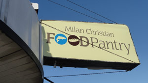 Exterior of the Milan Food Pantry