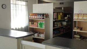 Interior of the Milan Food Pantry
